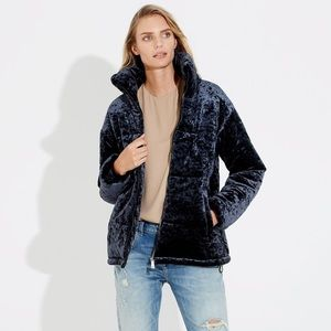 Bernardo Midnight Blue Oversized Velvet Bomber S
